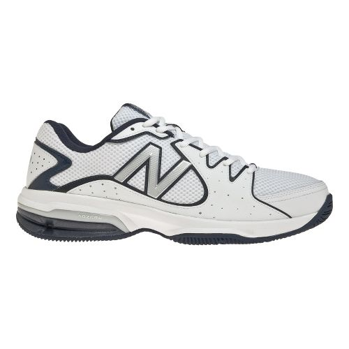 Mens New Balance 786 Court Shoe - White/Navy 7.5