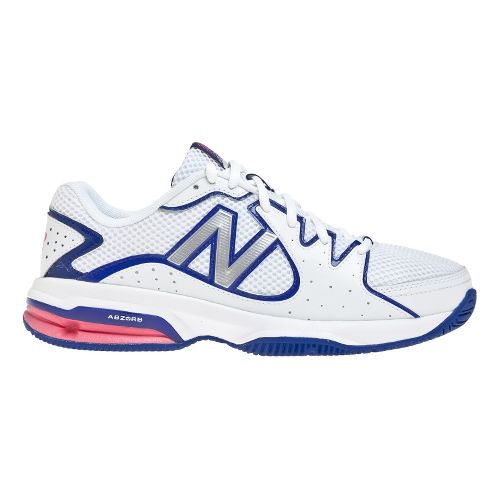 Womens New Balance 786 Court Shoe - White/Pink 10.5