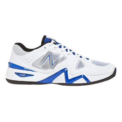 Mens New Balance 1296 Court Shoe - White/Blue 12.5
