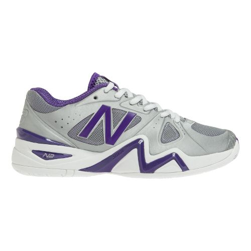 Womens New Balance 1296 Court Shoe - Silver/Purple 7.5