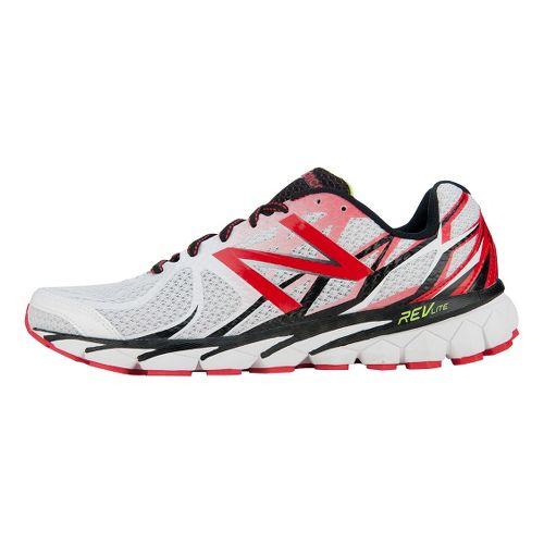 Mens New Balance 3190v1 Running Shoe - White/Red 11.5