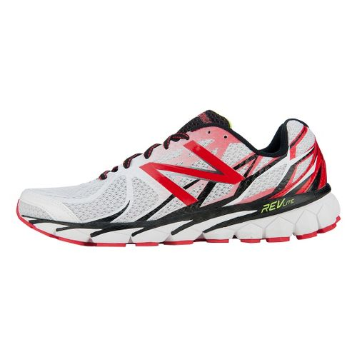 Mens New Balance 3190v1 Running Shoe - White/Red 7