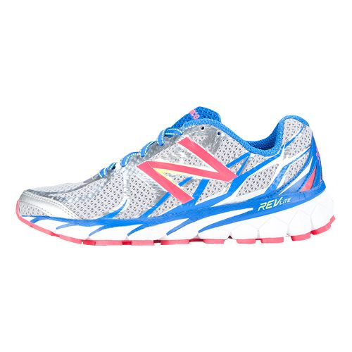 Womens New Balance 3190v1 Running Shoe - Silver/Blue 10.5