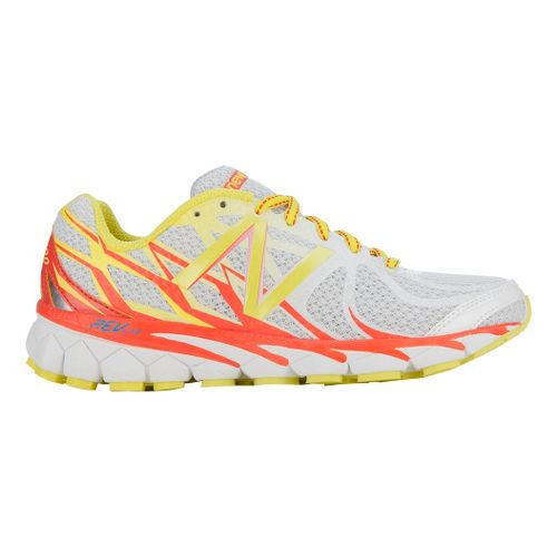 Womens New Balance 3190v1 Running Shoe - White/Orange 5.5