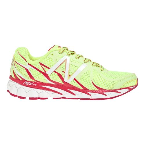 Womens New Balance 3190v1 Running Shoe - Yellow/Pink 7.5
