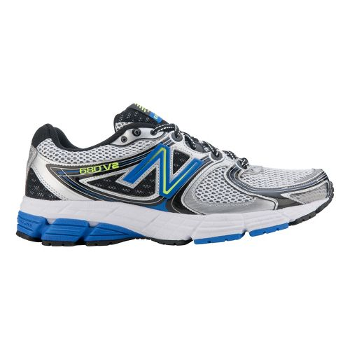 Mens New Balance 680v2 Running Shoe - Silver/Blue 7.5