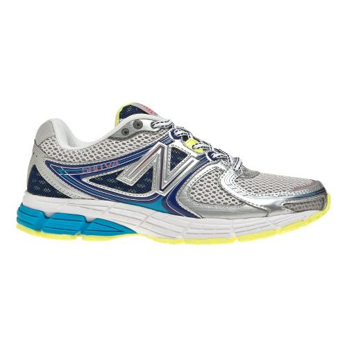 Womens New Balance 680v2 Running Shoe - Grey/Blue 8.5