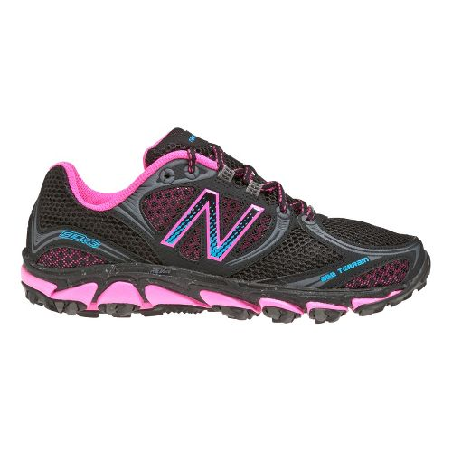 Womens New Balance 810v3 Running Shoe - Black/Pink 7.5