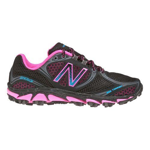 Womens New Balance 810v3 Running Shoe - Black/Pink 7.5