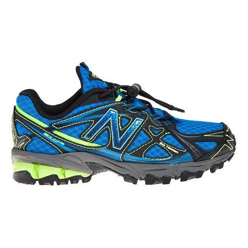 Kids New Balance 610v3 Trail Running Shoe - Black/Yellow 12