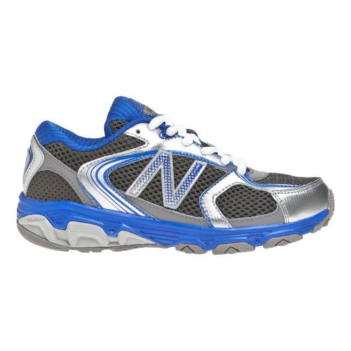 Kids New Balance 635 Running Shoe - Silver/Blue 2.5