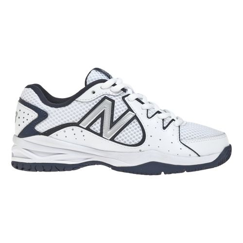 Kids New Balance 786 Court Shoe - White/Navy 2