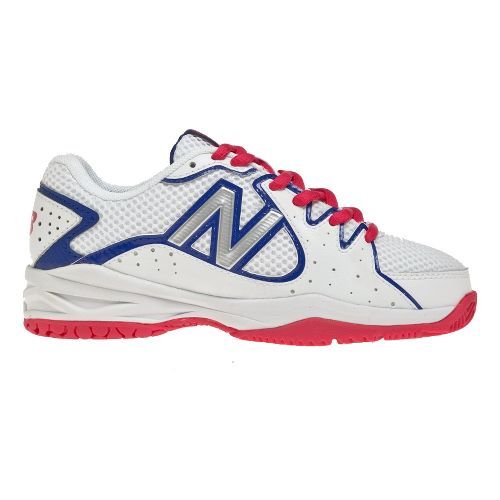 Kids New Balance 786 Court Shoe - White/Pink 1.5