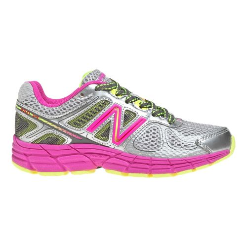 Kids New Balance 860v4 Running Shoe - Grey/Pink 12.5