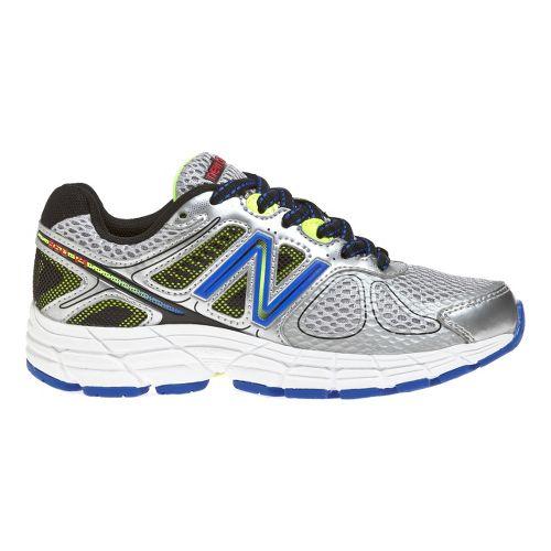 Kids New Balance 860v4 Running Shoe - Silver/Blue 4