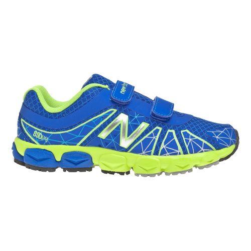 Kids New Balance 890v4 - Velcro Running Shoe - Blue/Green 12.5