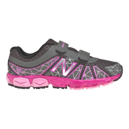 Kids New Balance 890v4 - Velcro Running Shoe - Grey/Pink 11.5
