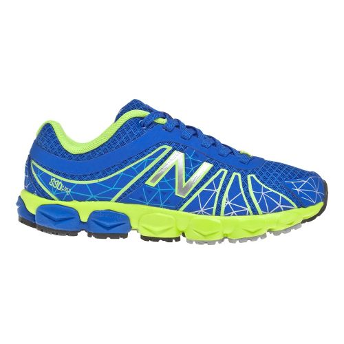 Kids New Balance Kid's 890v4 - Full lace GS Running Shoe - Blue/Green 4.5