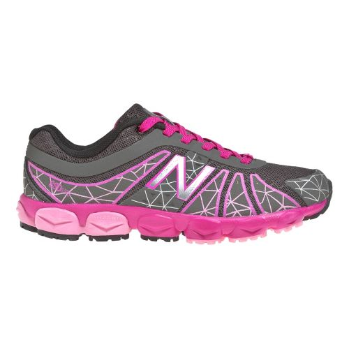Kids New Balance Kid's 890v4 - Full lace GS Running Shoe - Grey/Pink 3.5