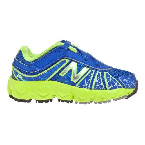 Kids New Balance 890v4 - Partial Velcro Running Shoe - Blue/Green 8