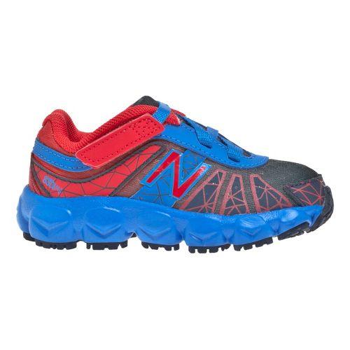 Kids New Balance 890v4 - Partial Velcro Running Shoe - Blue/Red 6