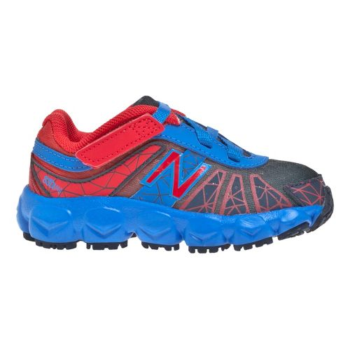Kids New Balance 890v4 - Partial Velcro Running Shoe - Blue/Red 7.5