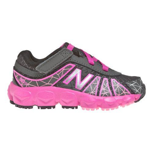 Kids New Balance 890v4 - Partial Velcro Running Shoe - Grey/Pink 8