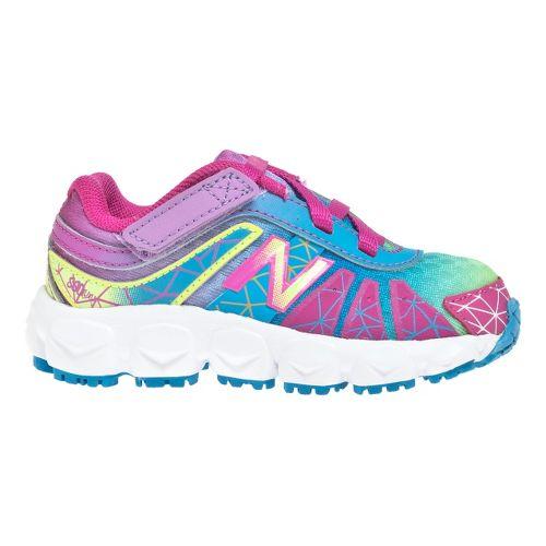 Kids New Balance 890v4 - Partial Velcro Running Shoe - Rainbow 6