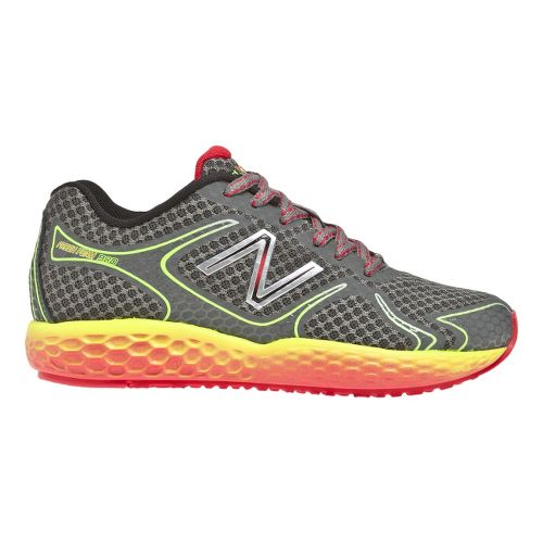 Kids New Balance 980 Running Shoe - Grey/Yellow 11.5