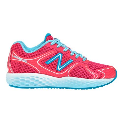 Kids New Balance 980 Running Shoe - Pink/Blue 12