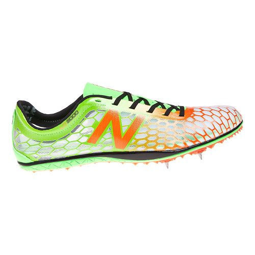 Mens New Balance 5000 Racing Shoe - Green/Orange 11.5