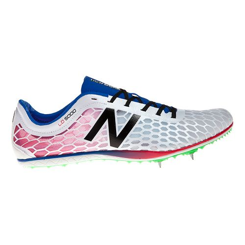 Mens New Balance 5000 Racing Shoe - White/Blue 8.5