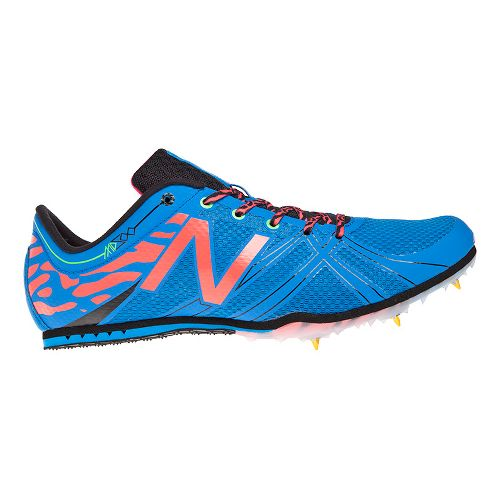 Mens New Balance MD500v3 Racing Shoe - Blue/Pink 12.5