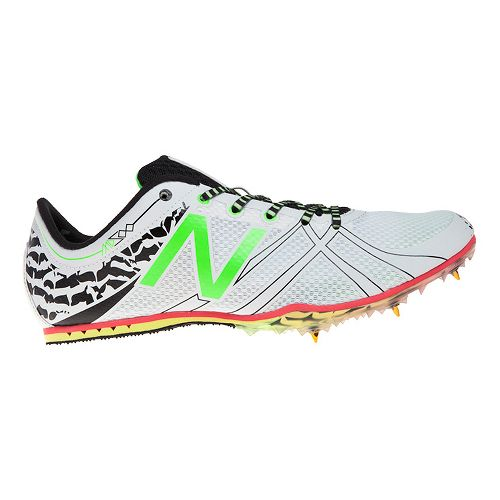 Mens New Balance MD500v3 Racing Shoe - White/Green 9