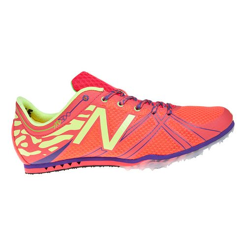 Womens New Balance MD500v3 Racing Shoe - Pink/Yellow 8.5
