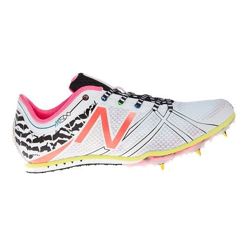Womens New Balance MD500v3 Racing Shoe - White/Pink 7.5