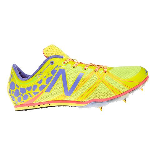 Womens New Balance MD500v3 Racing Shoe - Yellow/Blue 10.5