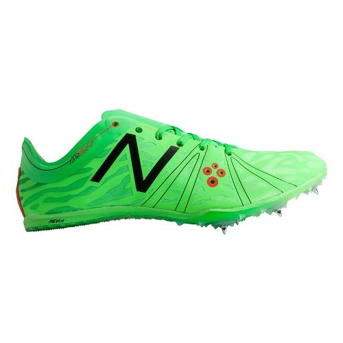 Mens New Balance MD800v3 Racing Shoe - Silver/Chem Green 14