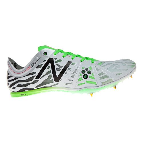 Mens New Balance MD800v3 Racing Shoe - White/Green 8.5