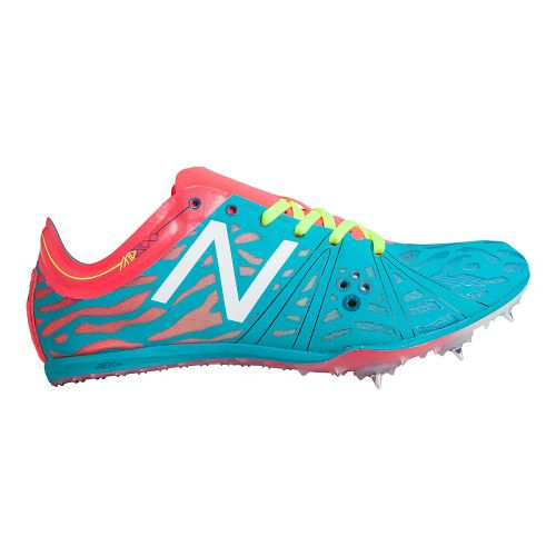Womens New Balance MD800v3 Racing Shoe - Blue/Bright Cherry 9