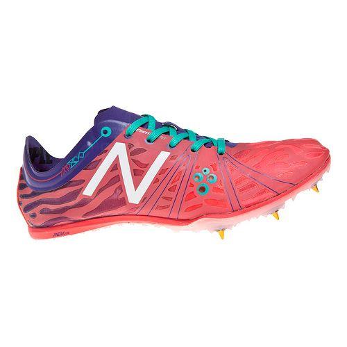 Womens New Balance MD800v3 Racing Shoe - Pink/Blue 7.5