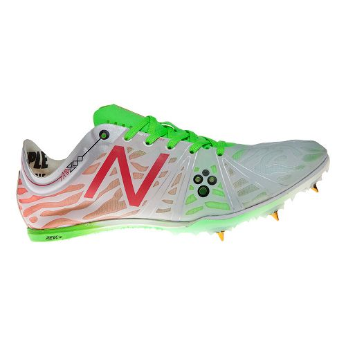 Womens New Balance MD800v3 Racing Shoe - White/Pink 7.5