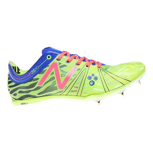 Womens New Balance MD800v3 Racing Shoe - Yellow/Blue 6.5