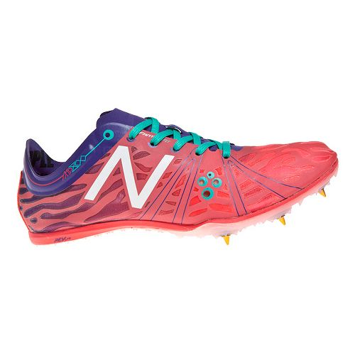 Womens New Balance MD800v3 Racing Shoe - Blue/Bright Cherry 10.5