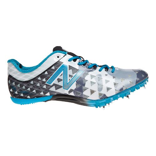 Womens New Balance SD400 Racing Shoe - Grey/Blue 10.5