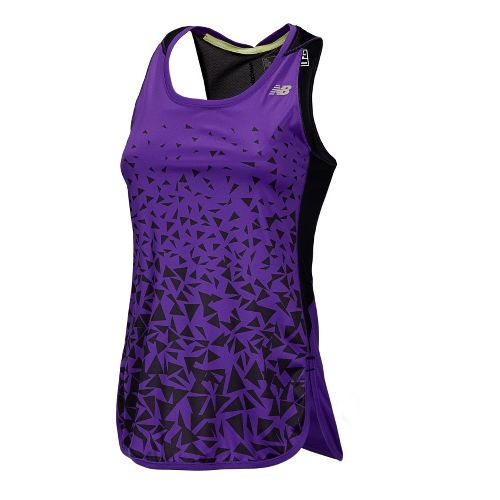 Womens New Balance Impact Tunic Tanks Technical Tops - Amethyst L