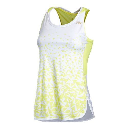 Womens New Balance Impact Tunic Tanks Technical Tops - Sunny Lime XL