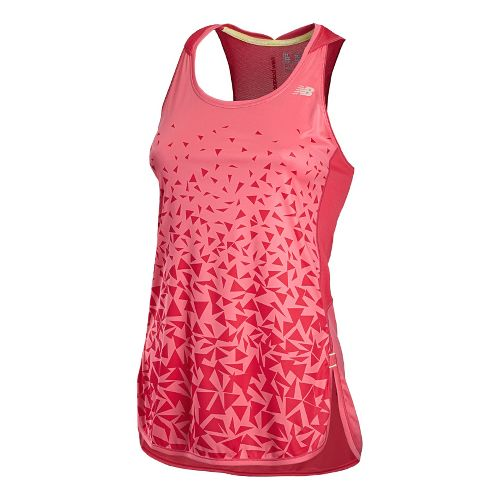 Womens New Balance Impact Tunic Tanks Technical Tops - Watermelon S