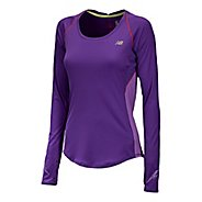 Womens New Balance Impact Long Sleeve No Zip Technical Tops