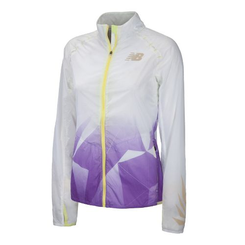Womens New Balance Boylston Running Jackets - Amethyst L